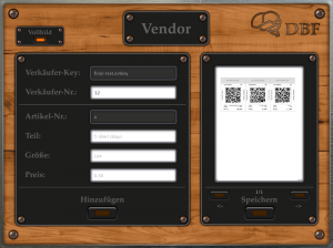 Vendor (Creating Price Tags)