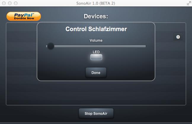SonoAir Device Control