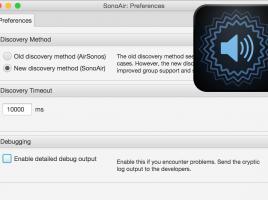 SonoAir 1.0 (BETA 4.0) Preferences with Icon